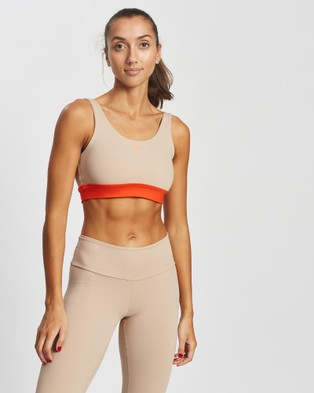 AVE Activewoman Contrast Soft Compression Sport Bra - Compression Tops (Nude)