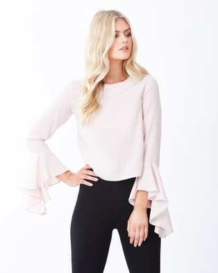 Calli – Alayla Button Detail Top – Cropped topsDusty Rose