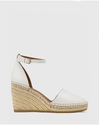 Wittner - Zaylee Leather Wedge Heel Espadrilles