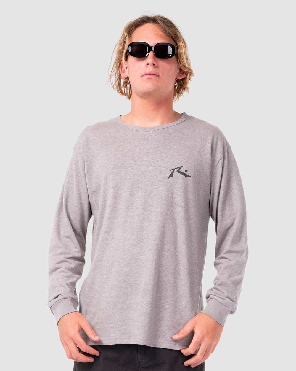 Rusty - One Hit Hemp Long Sleeve Tee - Long Sleeve T-Shirts (FGR) One Hit Hemp Long Sleeve Tee