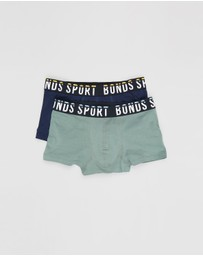 Bonds Kids - 2-Pack Cotton Sport Trunks - Kids-Teens