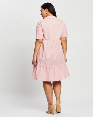 Atmos&Here Curvy Malia Mini Dress - Dresses (Pink)