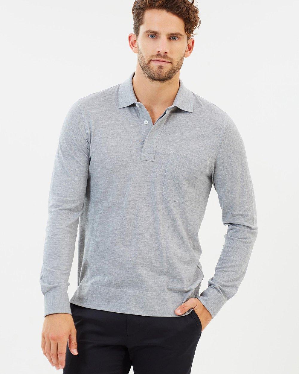 ba1ae1fae Cotton-Silk Blend Long Sleeve Polo Shirt by CERRUTI 1881 Online ...