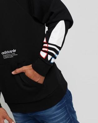 adidas Originals Adicolor Tricolour Trefoil Hoodie - Hoodies (Black)