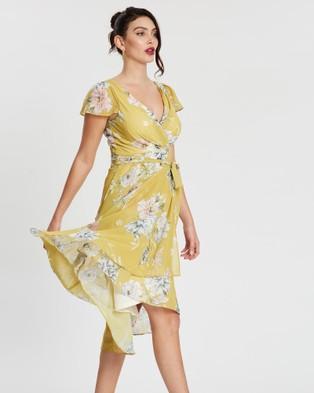 Montique Sierra Sunshine Soft Chiffon Dress - Printed Dresses (Sunshine)
