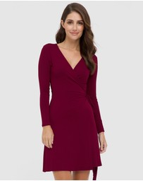 Bamboo Body - Long Sleeve Wrap Dress