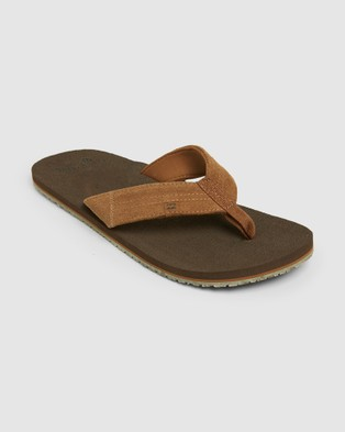 Billabong Seaway Suede Thongs - Sandals (CHOCOLATE)