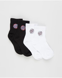Santa Cruz - Junior Dot Ankle Socks 4-Pack - Kids