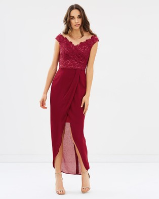 Alabaster The Label – Extravaganza Dress – Bridesmaid Dresses Burgundy Red