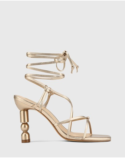 Wittner - Rikita Leather Sculptured Heel Strappy Sandals
