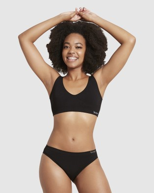 Boody Organic Bamboo Eco Wear 3 Pack Shaper Crop Bra - Crop Tops (Black)