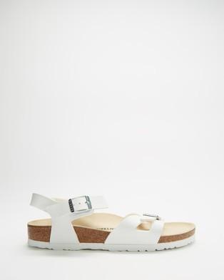 Birkenstock - Womens Rio Birko Flor Narrow Sandals (White) Birko-Flor