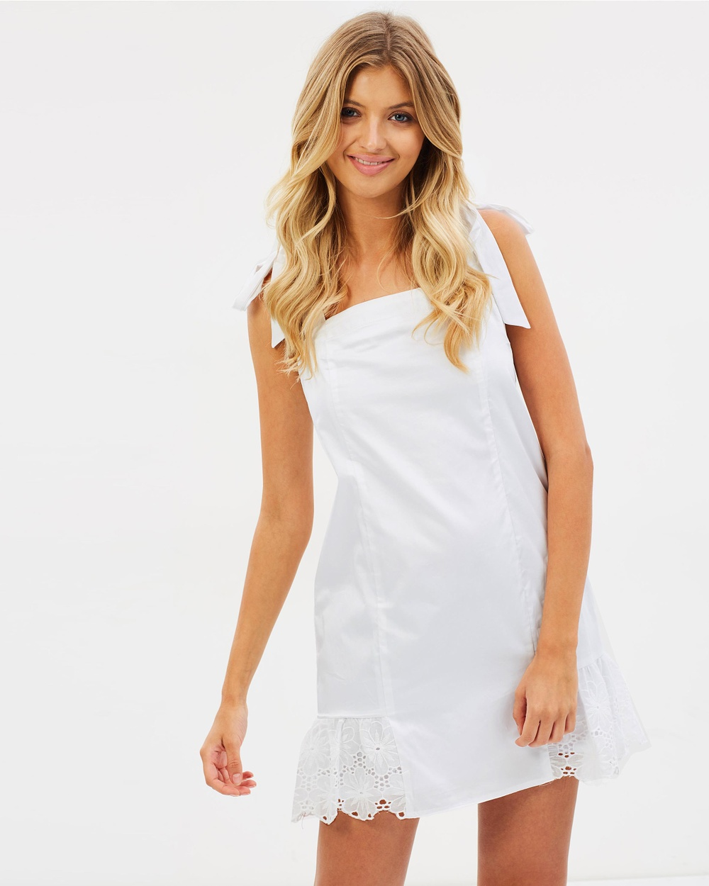 Atmos & Here ICONIC EXCLUSIVE Matilda Mini Dress Dresses White ICONIC EXCLUSIVE Matilda Mini Dress