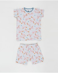 Cotton On Kids - Harpa Short Sleeve Pyjama Set - Kids-Teens