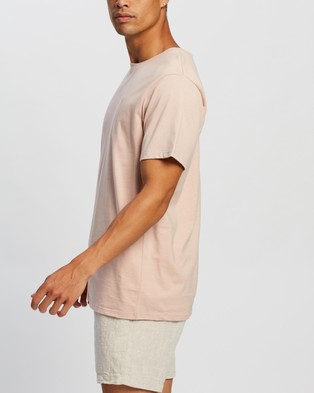 AERE Relaxed Organic A Tee - T-Shirts & Singlets (Pink)