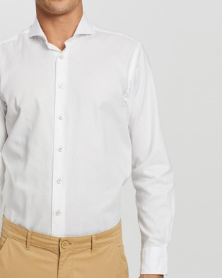 3 Wise Men The Magpie Tailored Shirt - Shirts & Polos (White)