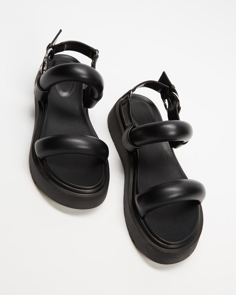 TOPSHOP Int Pacha Sandals Black Australia