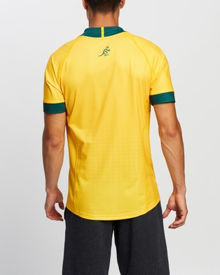 ASICS Wallabies 20 Replica Home Jersey - Rugby Union (Wallabies Gold)