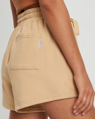 Savel Essential Shorts - High-Waisted (Tan)
