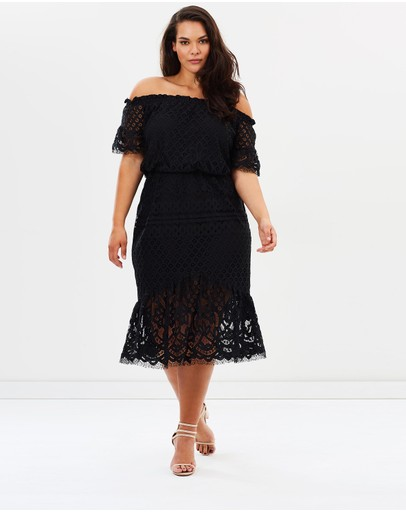 Atmos&Here Curvy - Billie Lace Off Shoulder Dress