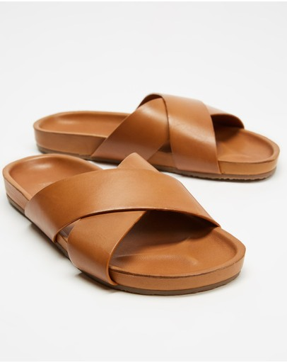 AERE - Brunswick Leather Slides