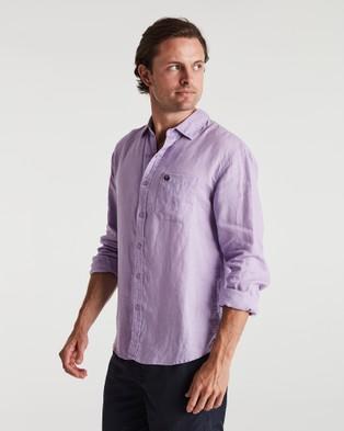 Coast Clothing Long Sleeve Linen Shirt - Casual shirts (Purple)