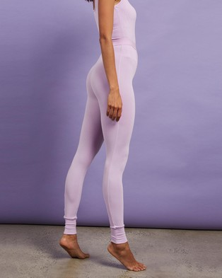 Dazie Lounge About Ribbed Leggings - Pants (Pink)