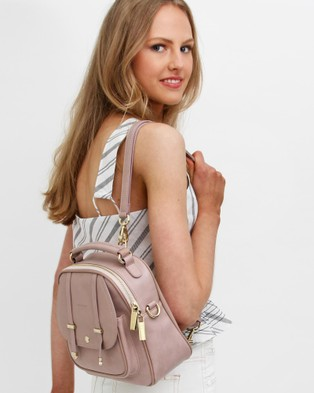 Belle & Bloom Camila Leather Backpack - Backpacks (Pink)