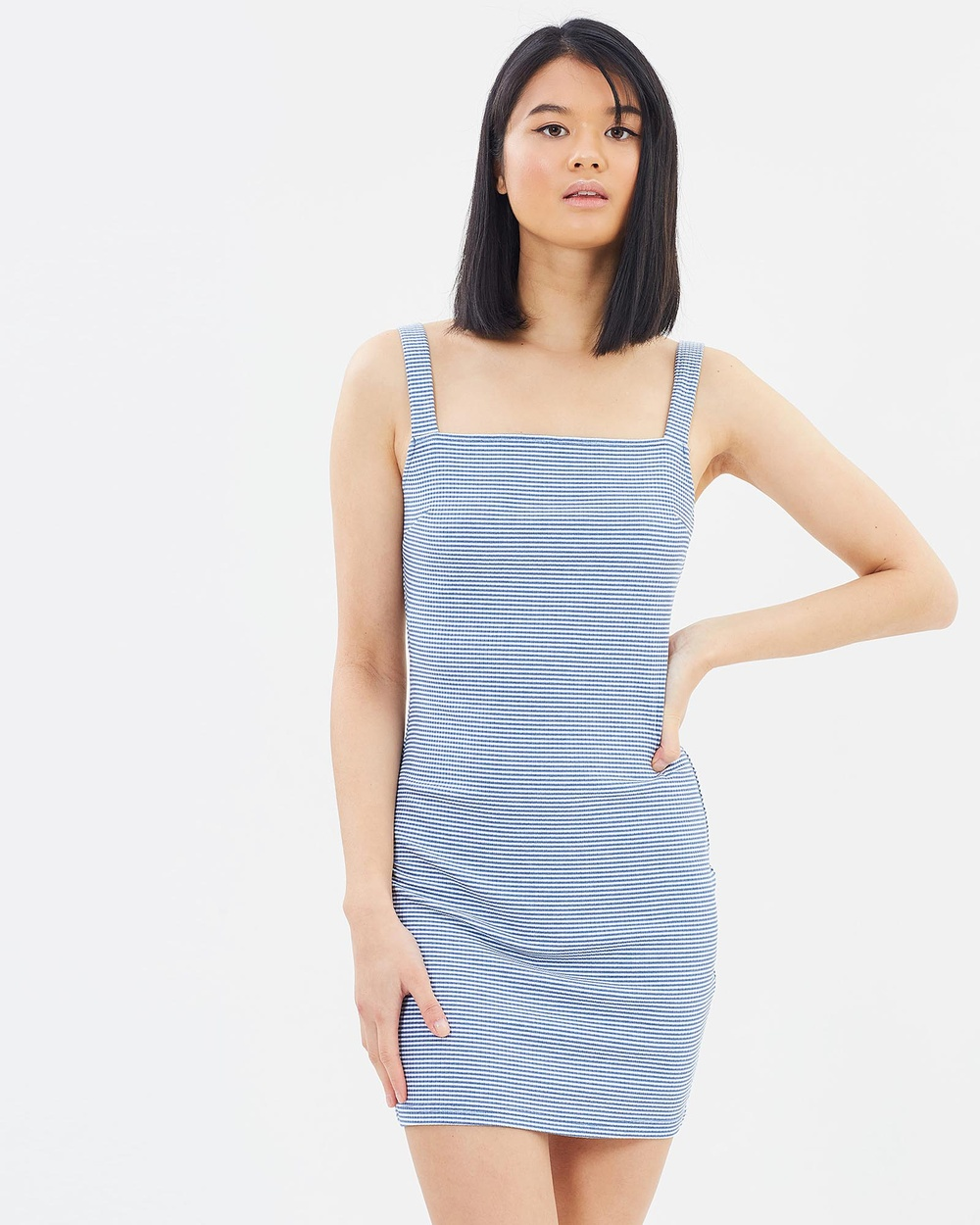 Otto Mode New Elements Dress Bodycon Dresses Blue Stripe New Elements Dress