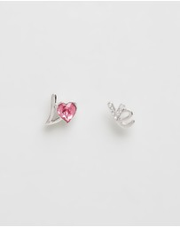 Mestige Kids - Love Earrings With Swarovski Crystals