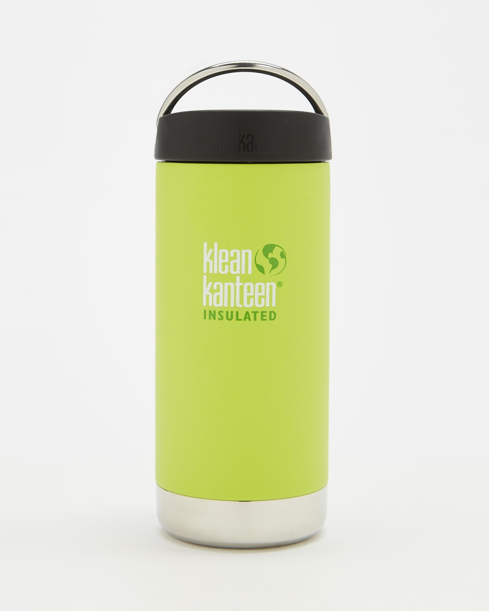 Klean Kanteen TKWide Insulated 12oz with Cafe Cap Running Juicy Pear