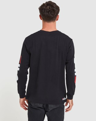 Fila - Classic Long Sleeve Tee - Long Sleeve T-Shirts (Black) Classic Long Sleeve Tee