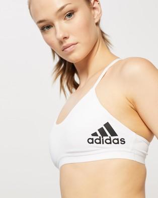 adidas Performance All Me Padded Bra - Crop Tops (White & Black)