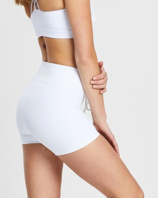VILLIN NFL 2.0 Lace Up Sports Shorts - 1/2 Tights (White)