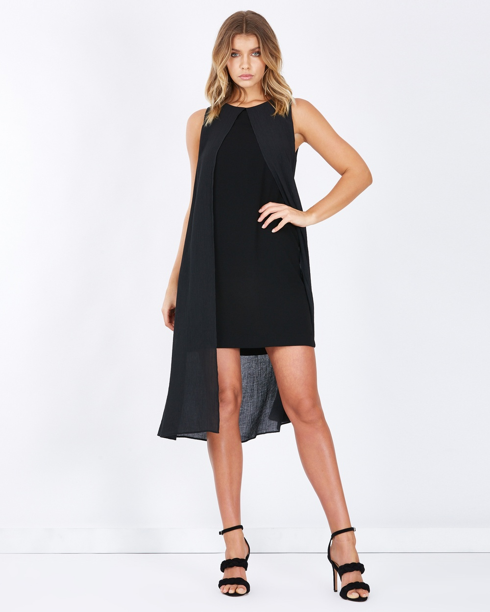 Tussah Brighton Split Front Midi Dress Dresses Black Brighton Split-Front Midi Dress