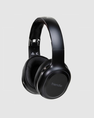Friendie AIR Duo Wireless Over Ear Headphones His and Hers Pack - Tech Accessories (Matte Black and Rose Gold)