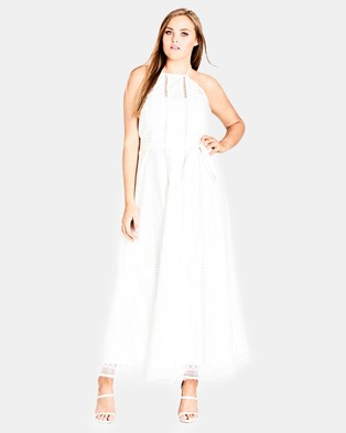 City Chic – Divine Weekend Maxi Dress Ivory