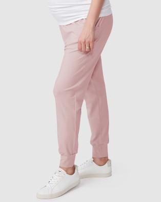 Pea in a Pod Maternity Jaya Slouch Pants - Sweatpants (Dusty Pink)