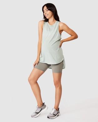 Cotton On Body Active Maternity Active Curve Hem Tank Top - Maternity Singlets (Mint Chip)