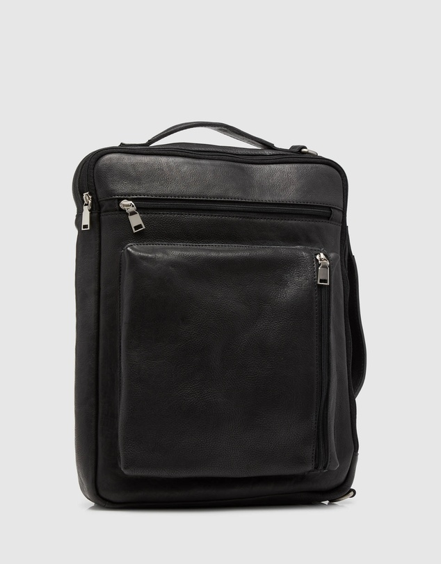Men Swift Leather Backpack Briefcase