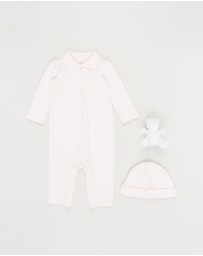 Polo Ralph Lauren - Bear Coverall, Beanie & Toy Gift Box Set - Babies