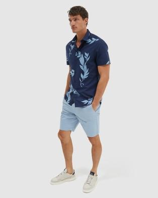 SABA Sanchez Short Sleeve Classic Shirt - Casual shirts (blue)
