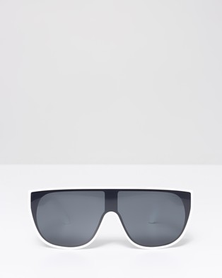 JUNiA Pow Sunglasses   Kids - Sunglasses (White)