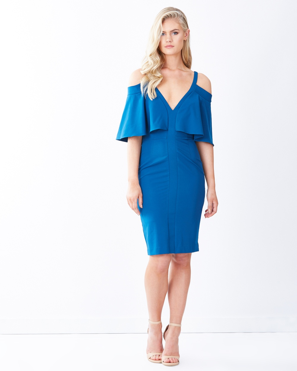 Photo of Tussah Teal Carmen Cocktail Dress - beautiful dress from Tussah online
