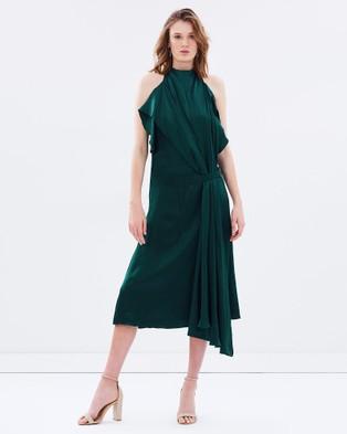 Bianca Spender – Petrol Silk Iris Dress – Bridesmaid Dresses Petrol
