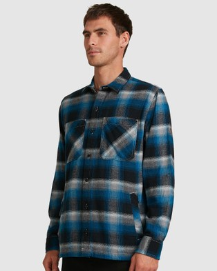 DC Shoes Mens Norris Shacket Long Sleeve Shirt - Shirts & Polos (BLUE SAPPHIRE)
