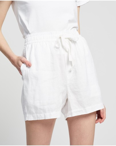 Assembly Label - Ease Linen Shorts