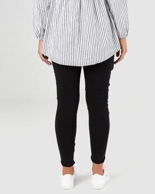 legoe Perspective Harem Pants - Pants (Black)