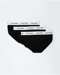Calvin Klein - Mens 3 Pack Cotton Stretch Hip Briefs