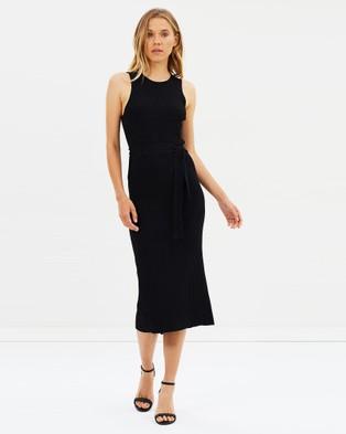 SABA – Victoria Wrap Knit Dress black